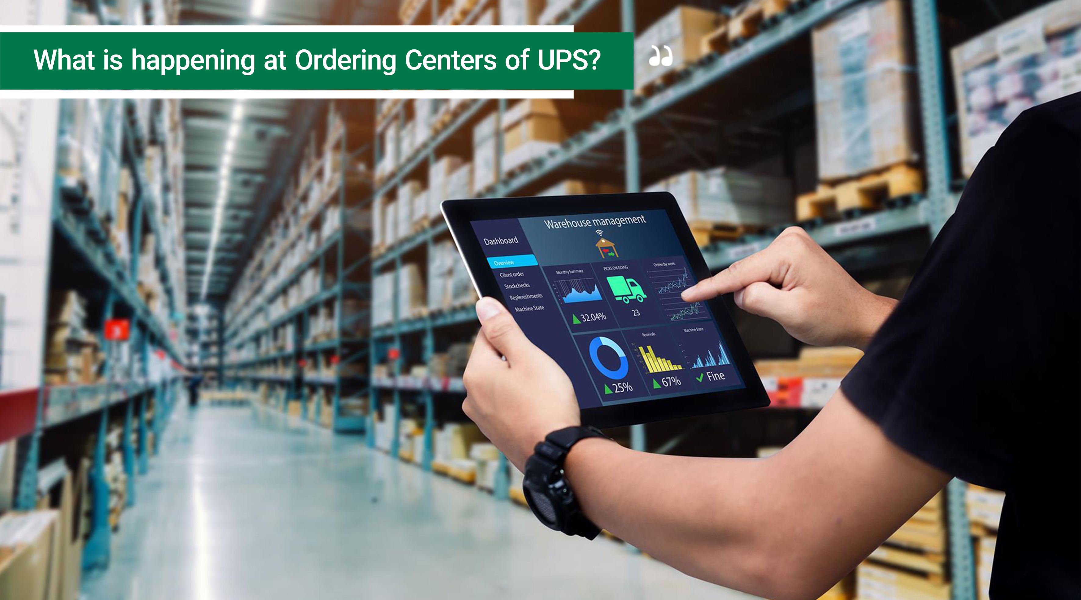 Logistics and transportation-What is happening at Ordering Centers of UPS?
