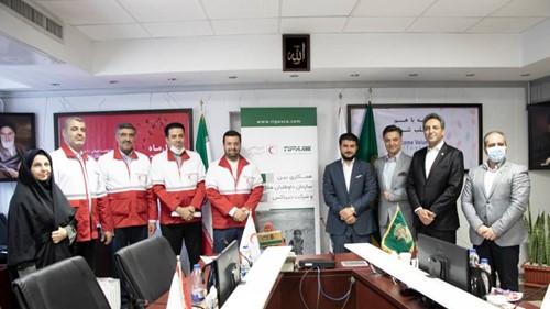 عقد تفاهمنامه همکاری میان تیپاکس و سازمان داوطلبان هلال احمر